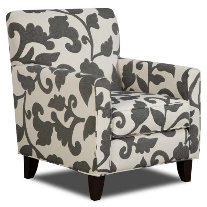 Bergen Fabric Accent Chair With Tapered Legs   CHF FS702 C ...