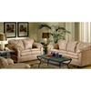 Vera Mocha Fabric Loveseat with Padded Armrests - CHF-7500-L-BM