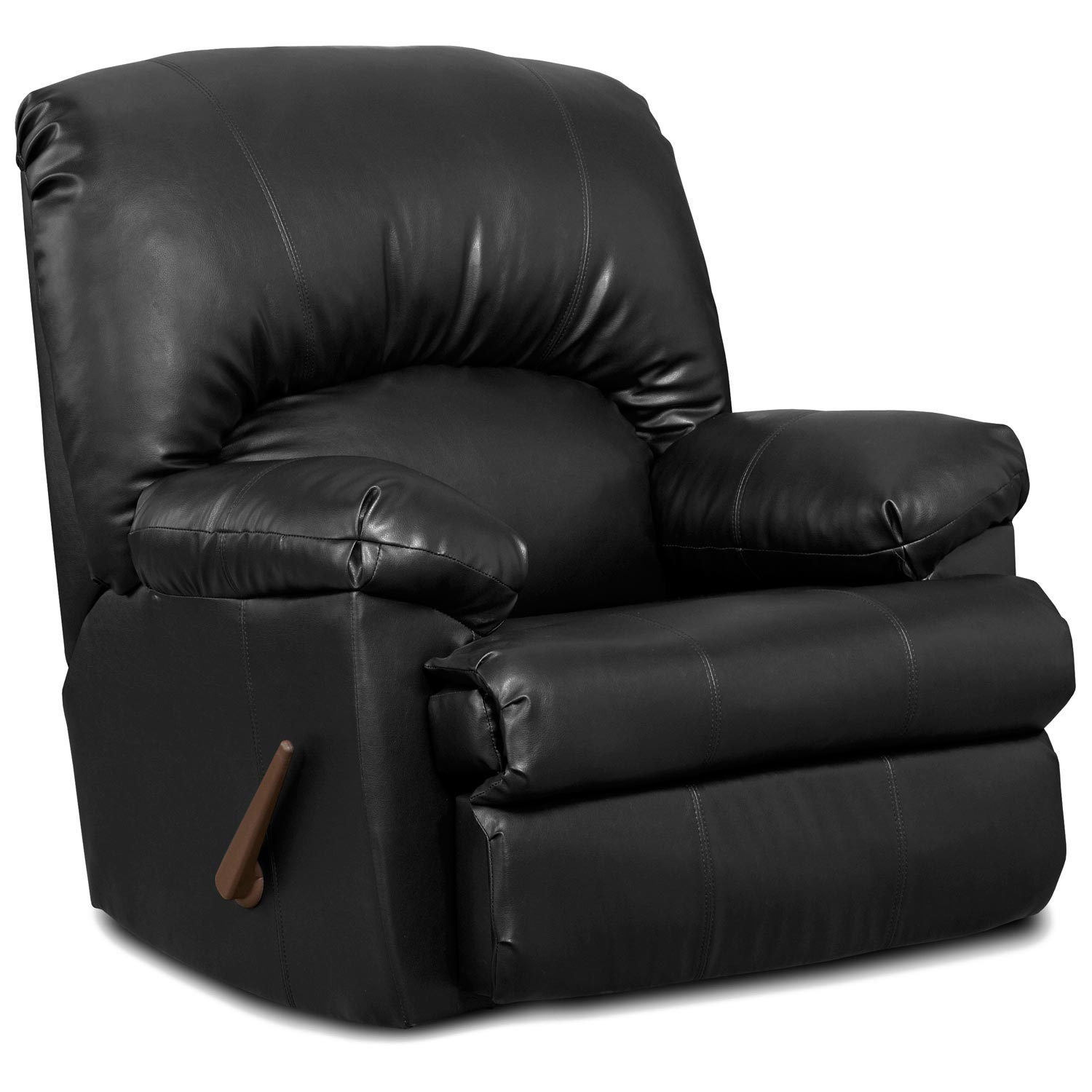 Charles Rocker Recliner Chair Black Leather Dcg Stores
