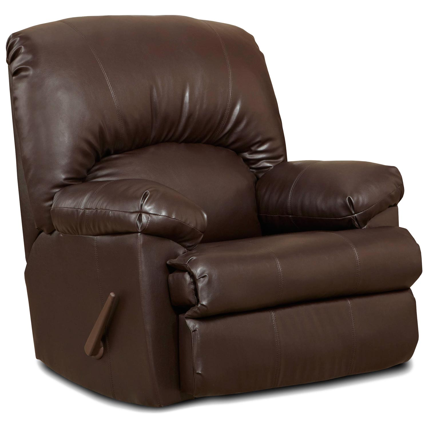 Charles Rocker Recliner Chair Brown Leather Dcg Stores