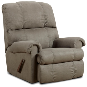 Grace Rocker Recliner Chair- Flat Suede Graphite