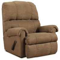 Grace Rocker Recliner Chair - Victory Lane Taupe Fabric