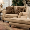 Duchess Chair & A Half - Turned Feet, Instinct Bronze Fabric - CHF-9901