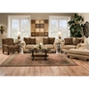 Duchess Sofa - Turned Feet, Instinct Bronze Fabric - CHF-9903