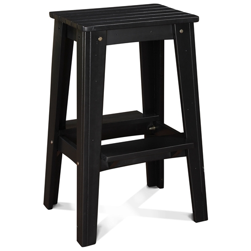 30 backless outdoor patio bar stool rustic black pearl dcg stores - Rustic outdoor bar stools ...