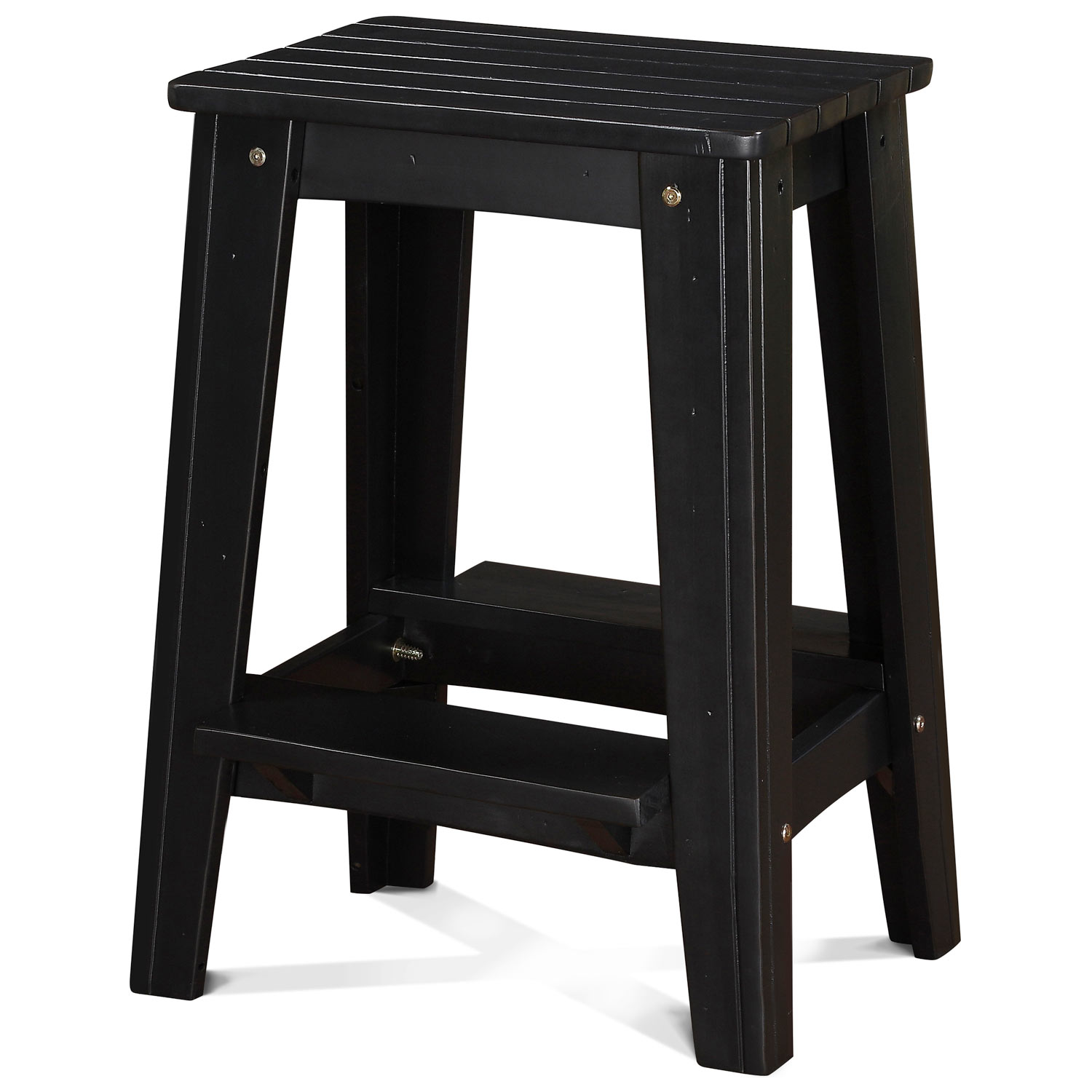 24 Quot Backless Outdoor Patio Counter Stool Rustic Black
