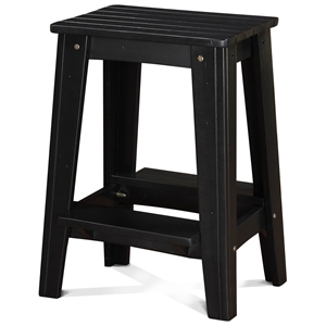 "24"" Backless Outdoor Patio Counter Stool - Rustic, Black Pearl"