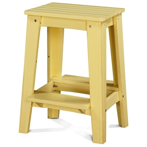 "24"" Backless Outdoor Patio Counter Stool - Rustic, Lemonade Yellow"
