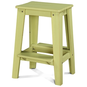 "24"" Backless Outdoor Patio Counter Stool - Rustic, Parakeet Green"
