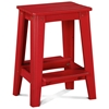 "24"" Backless Outdoor Patio Counter Stool - Rustic, Strawberry Kiss - CHIC-CRF-1CS24-SK"