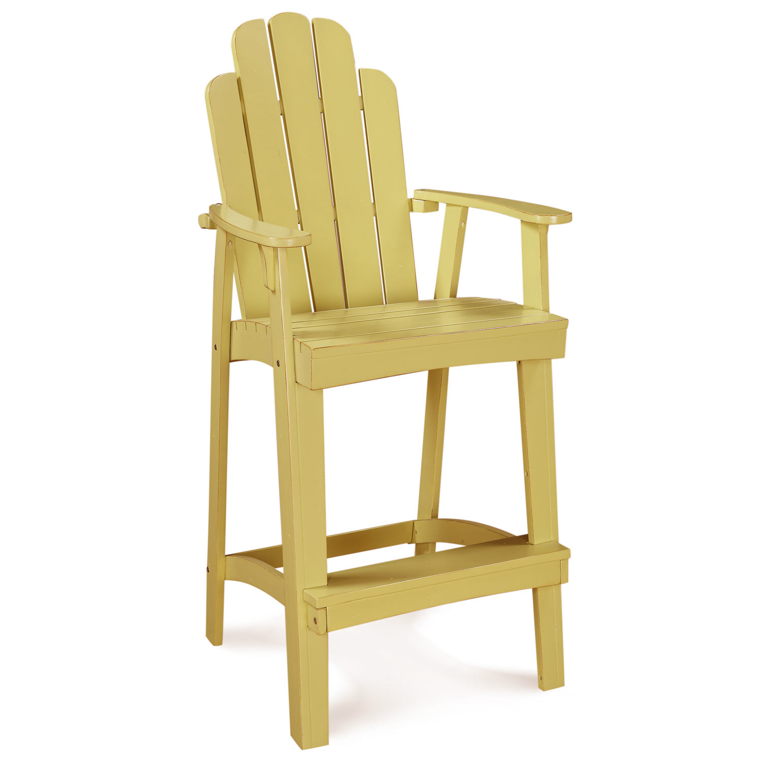 30 patio adirondack bar stool rustic scalloped back lemonade yellow dcg stores Rustic outdoor bar stools