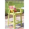 "30"" Patio Adirondack Bar Stool - Rustic, Scalloped Back, Parakeet Green - CHIC-CRF-2BS30-PG"