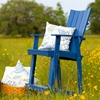 "30"" Patio Adirondack Bar Stool - Rustic, Reversed Curve Back, Nautical Blue - CHIC-CRF-3BS30-NB"