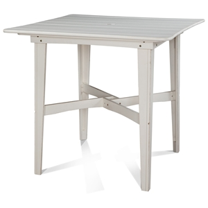 "48"" Square Outdoor Counter Height Table - Plank Top, Soft Sand Finish"