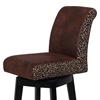 Cyris 30'' Swivel Bar Stool - Black Finish, Leopard Print Accent - CI-0289-BS