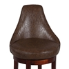 Daira 30'' Swivel Bar Stool - Wenge, Antique Brown Leather - CI-0290-BS