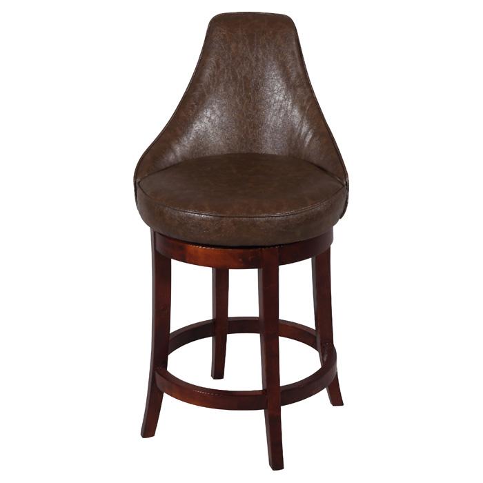 Daira 26 Swivel Counter Stool Wenge Antique Brown