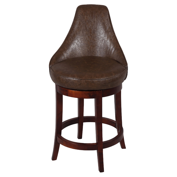 Daira 26 Swivel Counter Stool Wenge Antique Brown
