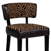 Liodes 30'' Wood Bar Stool - Black, Two Tone Animal Print - CI-0296-BS