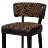 Liodes 26'' Wood Counter Stool - Black, Two Tone Animal Print - CI-0296-CS