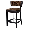 Enjoyable Liodes 26 Wood Counter Stool Black Two Tone Animal Print Theyellowbook Wood Chair Design Ideas Theyellowbookinfo