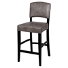 Manix 26'' Modern Counter Stool - Gray Leather, Black - CI-0297-CS