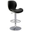 Elvis Adjustable Height Stool - Black, Chrome, Nailheads - CI-0315-AS