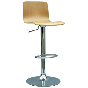 Tessa Bent Wood Swivel Adjustable Stool