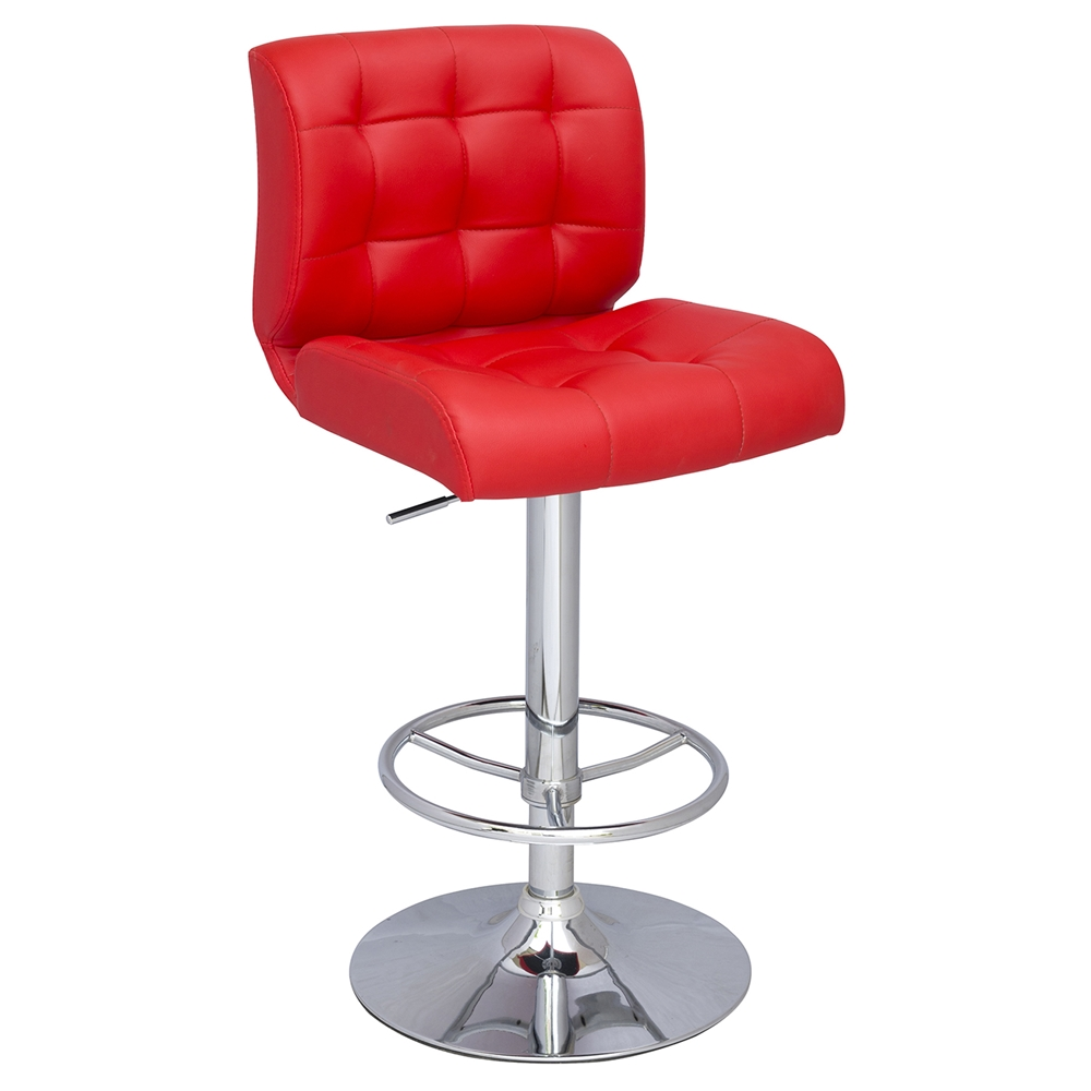 Leatherette Bar Stool Tufted Swivel Adjustable Red  : 0361 as red from www.dcgstores.com size 1000 x 1000 jpeg 198kB