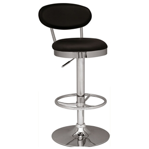 Rhea Adjustable Height Swivel Stool - Chrome Frame