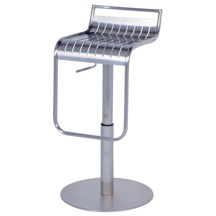 Kingsley Stainless Steel Adjustable Height Swivel Stool