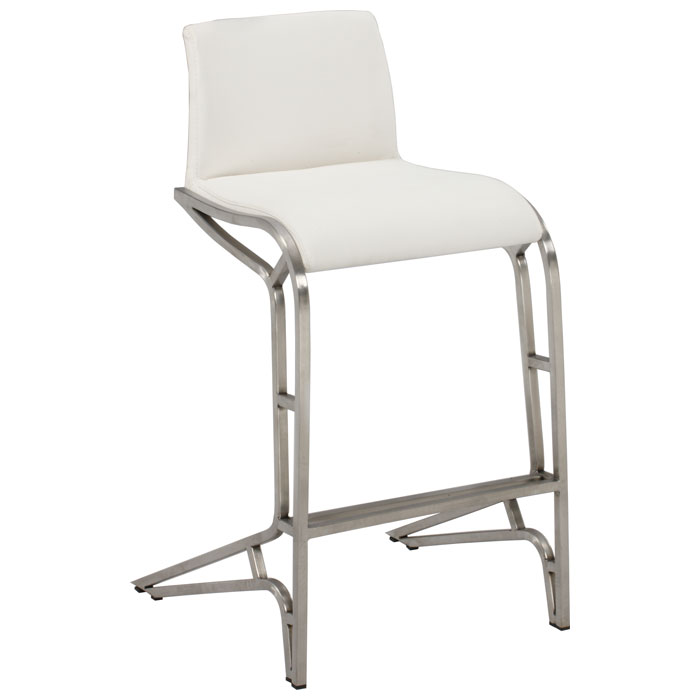 alodia modern white counter height stool dcg stores