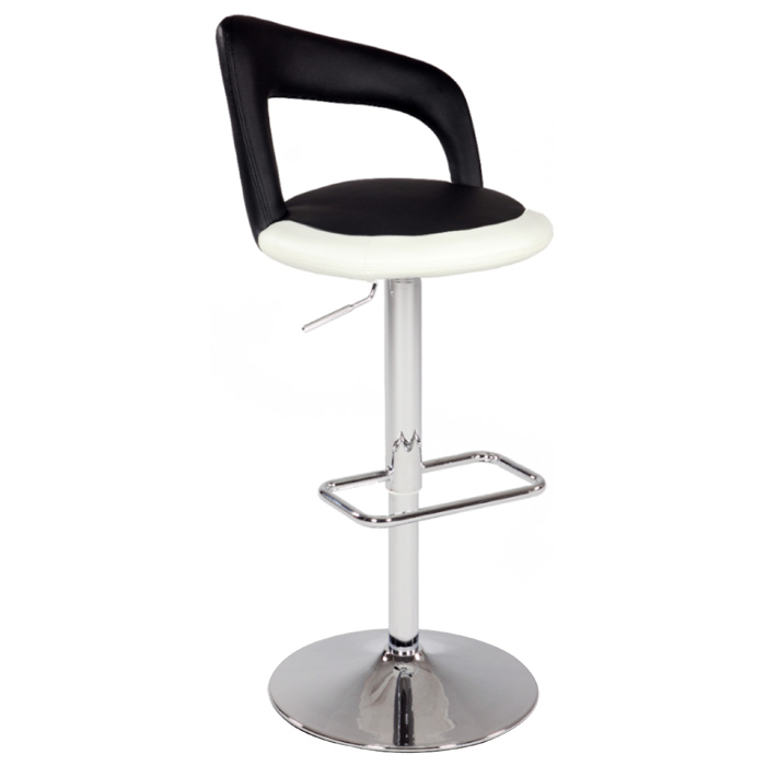 Chantal Two Tone Swivel Stool - Adjustable Height - CI-0648-AS