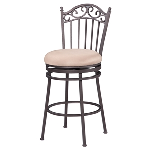 "26"" Memory Return Swivel Counter Stool - Taupe"