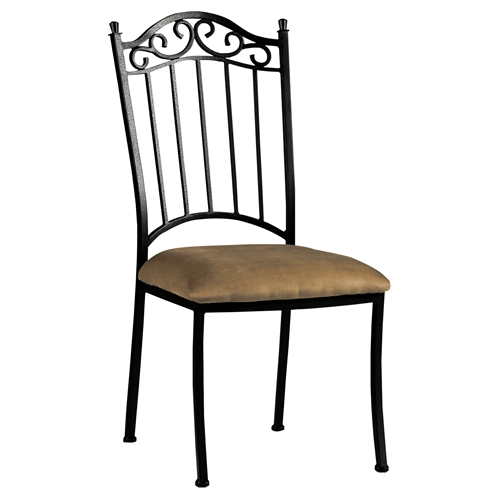 Wrought Iron Side Chair Beige Antique Taupe Set Of 4