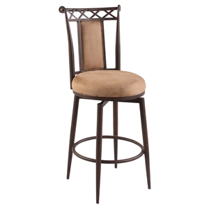 "26"" Memory Return Swivel Counter Stool - Autumn Rust, Taupe"