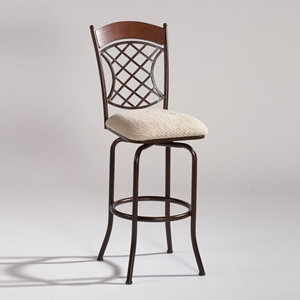 Sadie Swivel Counter Bar Stool with Wood Top Back