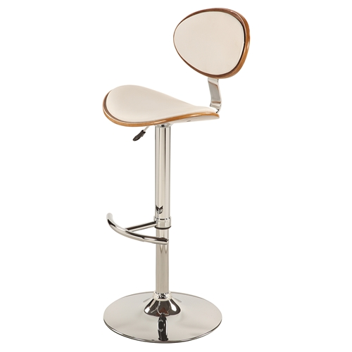Swivel Bar Stool White Chrome Base Adjustable Height  : 1309 as wht from www.dcgstores.com size 500 x 500 jpeg 43kB