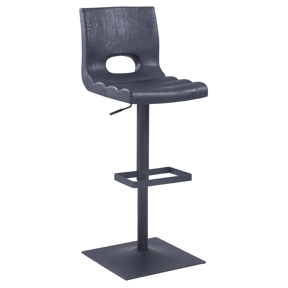 Adjustable Bar Stool Cut Back Black Dcg Stores