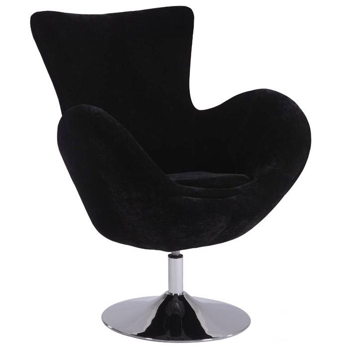 meissa modern swivel accent chair chrome base black velvet dcg