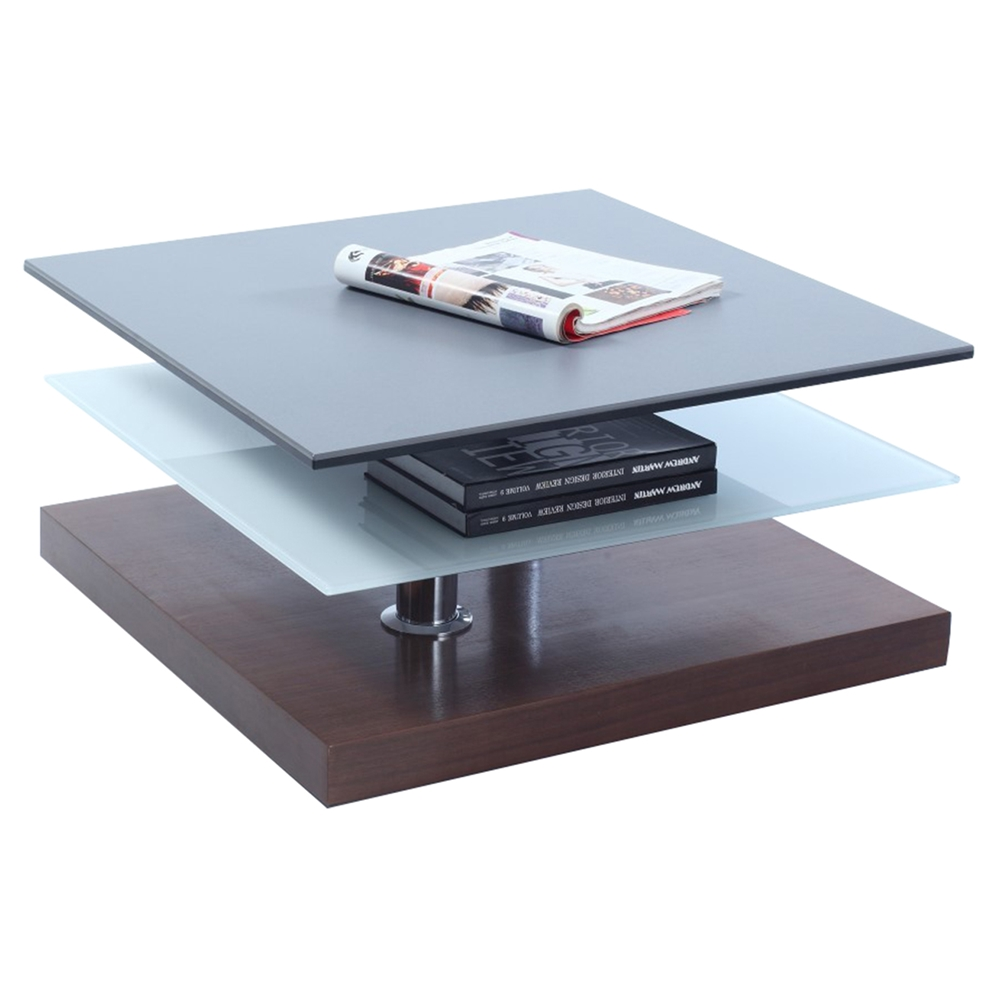 Cocktail Table Swivel Top Gray Walnut Dcg Stores