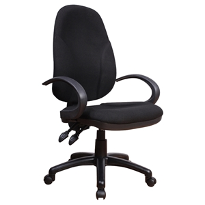 Office Chair - Fabric, Adjustable Height, Matt Black
