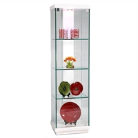 Cassidy White Accent Glass Curio
