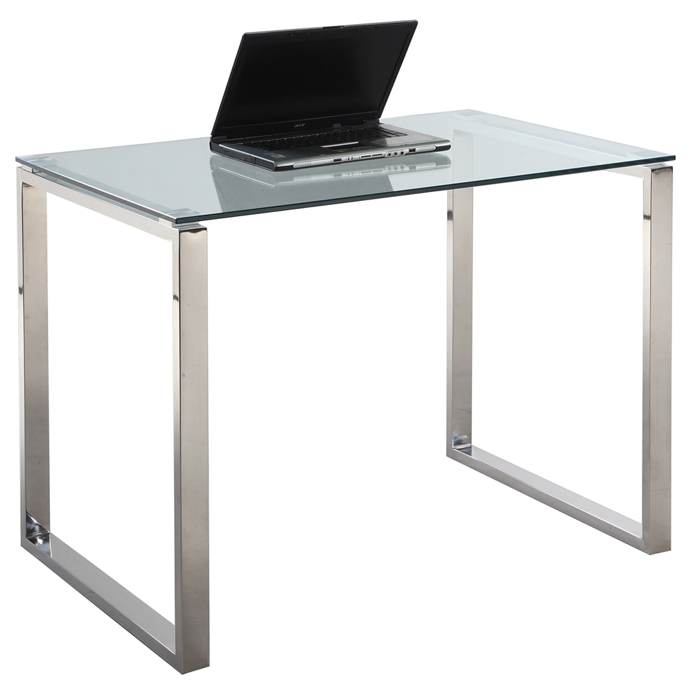 Glass Top, Stainless Steel Base