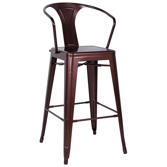 Craig Outdoor Bar Stool - Steel, Armrests - CI-8020-BS