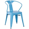 Pryce Contemporary Outdoor Chair - Steel, Armrests - CI-8023-SC