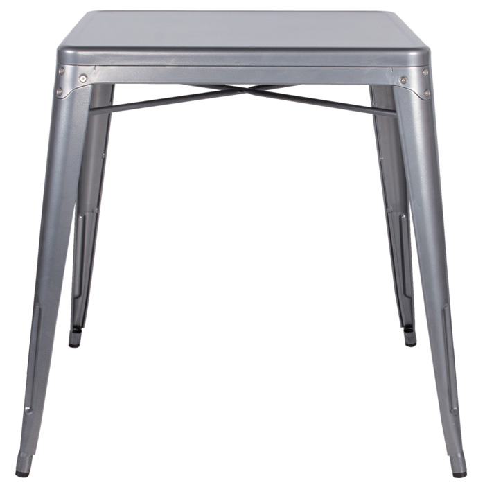 Colton Outdoor Dining Table - Steel, Square Top - CI-8029-DT