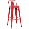 Carlson Low Back Outdoor Bar Stool - Steel - CI-8030-BS