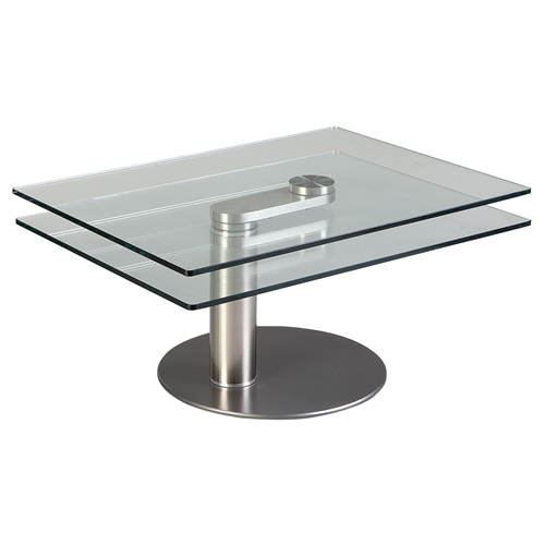 Motion Cocktail Table Glass Top Nickel Plated Dcg Stores