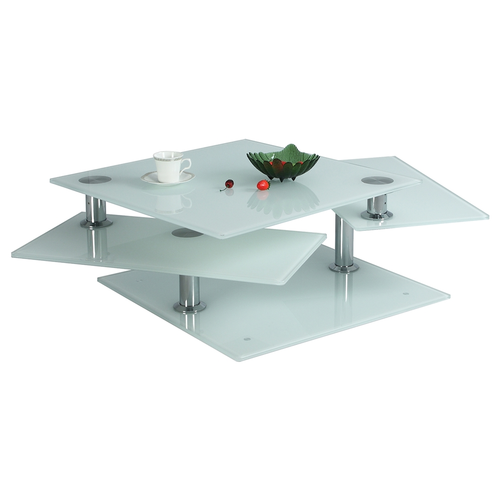 Motion Cocktail Table White Starphire Dcg Stores